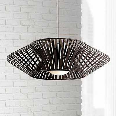 Possini Euro Planet Chrome and Black Pendant Chandelier - Lamps Plus