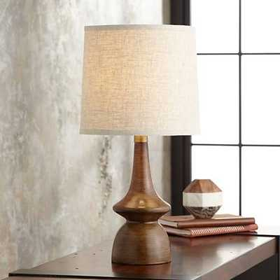 Rexford Mid-Century Walnut Table Lamp - Lamps Plus