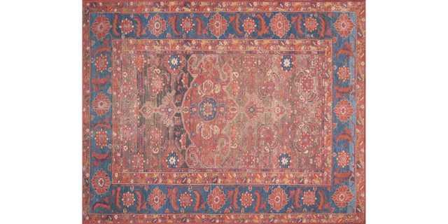 LF-07 RUST / BLUE - 5 x 7'6 - Loma Threads