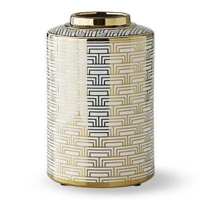 Gold Printed Jar, Small, Mosaic - Williams Sonoma