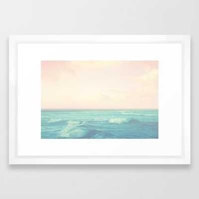 "Sea Salt Air Framed Art Print - Small 15"" x 21"" - Vector White Frame - Society6"