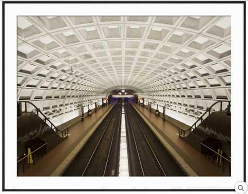 FOGGY BOTTOM METRO STATION PLATFORM, PART OF THE WASHINGTON D.C. METRO SYSTEM, WASHINGTON D.C., USA - art.com
