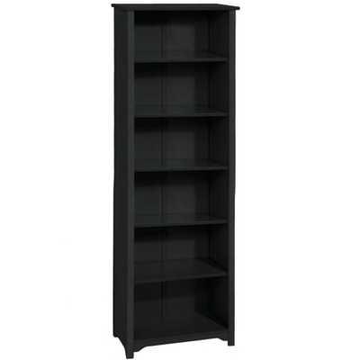 Oxford Black Open Bookcase - Home Depot