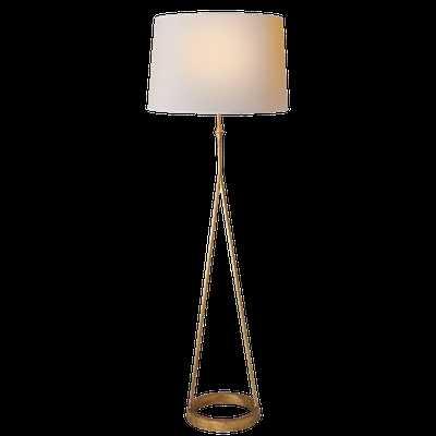Dauphine floor lamp - Gilded Iron, Natural Paper - Circa Lighting