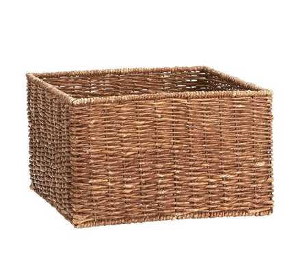 Samantha Square Bench Basket, Set of 3 - Pottery Barn