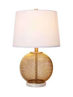 CUPCAKES AND CASHMERE MESH & MARBLE TABLE LAMP - Lulu and Georgia