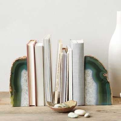 Agate Bookends, set of 2 - West Elm