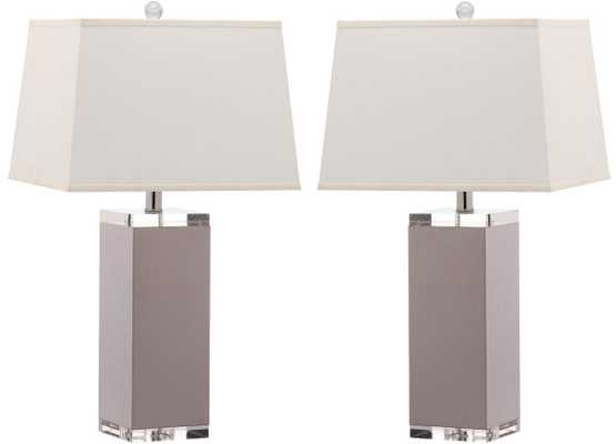 DECO LEATHER TABLE LAMP - SET OF 2 - Arlo Home