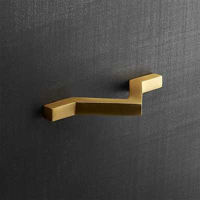 chevron brass drawer pull - CB2