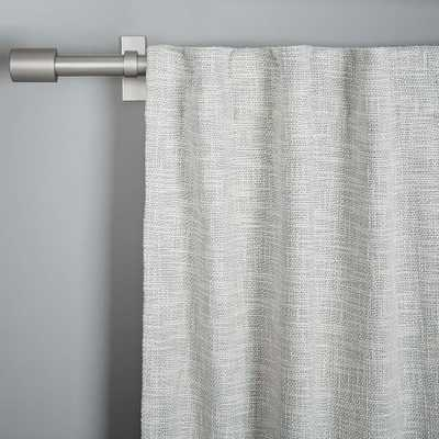 """Textured Weave Curtain + Blackout Lining - Ivory - 84"""" - West Elm"""