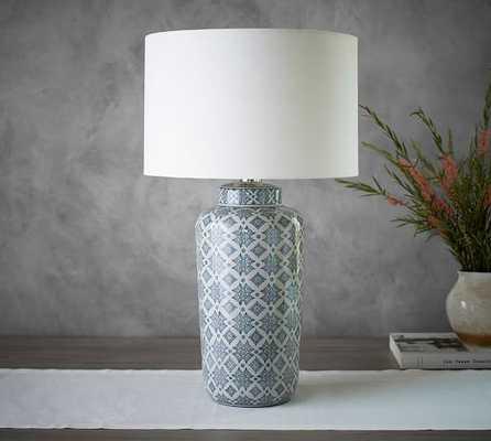 LANGLEY CERAMIC CYLINDER LAMP - Pottery Barn