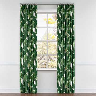 CUSTOM - Be Leaf It - Palm, Pinch Pleat Drapery/ pair - 48 x 90 - Loom Decor