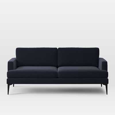 Custom Andes Sofa - Worn Velvet, Navy - West Elm