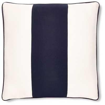 Sunbrella Outdoor Wide Stripe Pillow Cover, Navy - Williams Sonoma