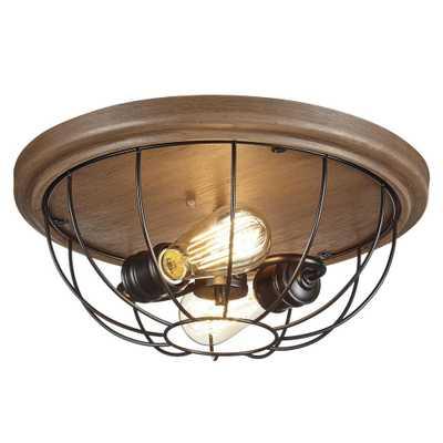 2-Light Vintage Bronze Flushmount - Home Depot
