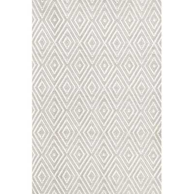 DIAMOND PLATINUM/WHITE INDOOR/OUTDOOR RUG, 8.5 'x 11' - Dash and Albert