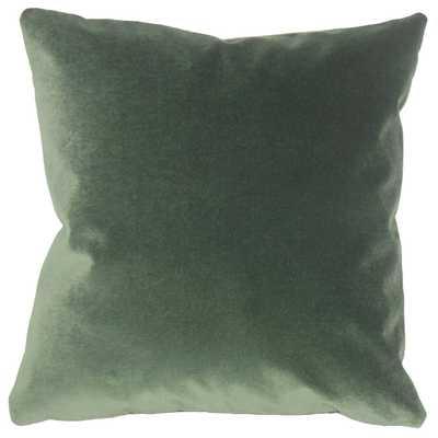 """Wish Holiday Pillow Green - 18"""" x 18"""" - Down Insert - Linen & Seam"""
