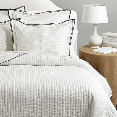 Millie Channel Stitch Quilted Bedding - Indigo king - Ballard Designs