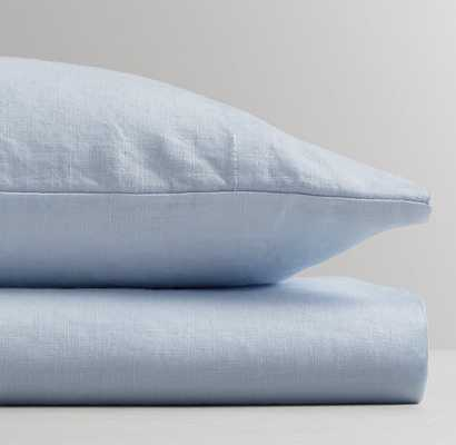 WASHED ORGANIC LINEN CRIB FITTED SHEET - Cloud - RH