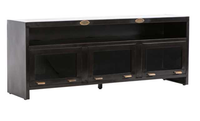 Rockwell Three-Door Media Cabinet - High Fashion Home