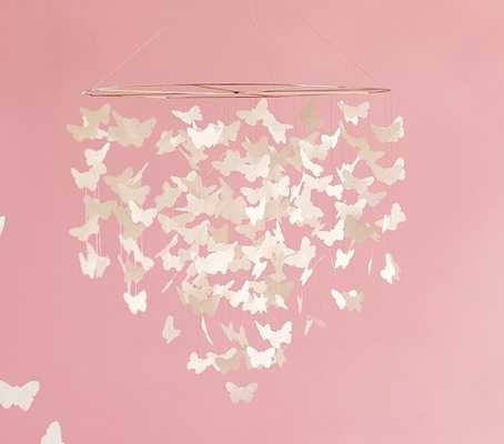 White Butterfly Ceiling Mobile - Pottery Barn Kids
