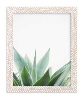 """""""balboa park"""" framed art print 8""""x10"""" whitewashed herringbone frame - Minted"""