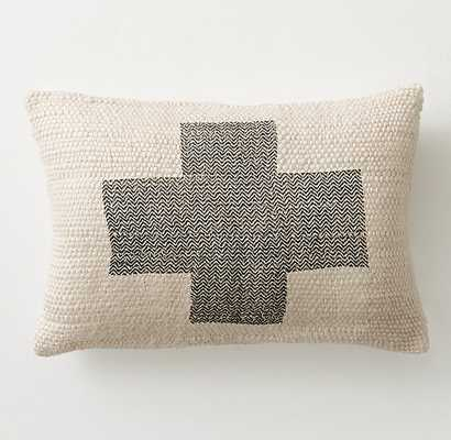 PLUS SIGN BOUCLÉ PILLOW COVER & INSERT - RH Teen