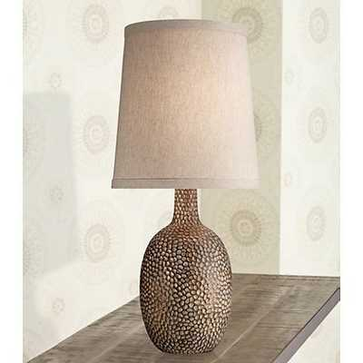 Chalane Hammered Antique Bronze Table Lamp - Lamps Plus