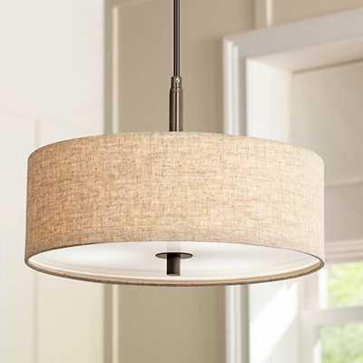 """Possini Euro Design Cream Drum 16""""-W Pendant Light - Lamps Plus"""