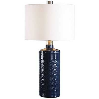 Uttermost Thalia Blue Ceramic Table Lamp - Lamps Plus