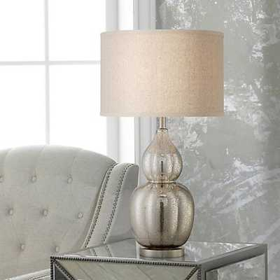 Jackie Fluted Mercury Glass Table Lamp - Lamps Plus