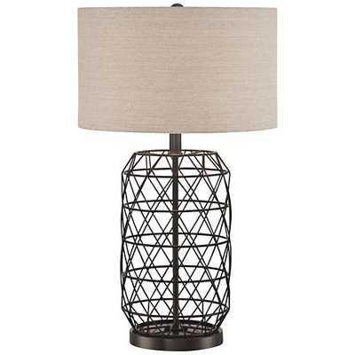 Lite Source Cassiopeia Black Metal Table Lamp - Lamps Plus