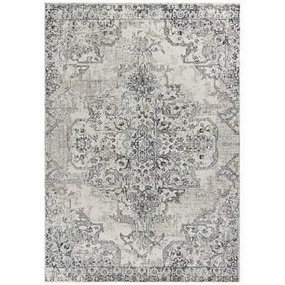 Seville 9471 Ivory and Gray Area Rug - Lamps Plus