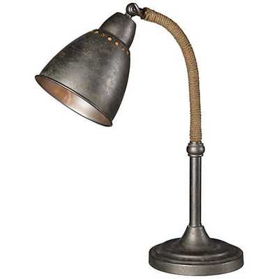 Forty West Gage Industrial Raw Metal Adjustable Desk Lamp - Lamps Plus