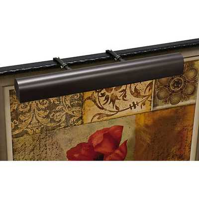 """House of Troy 24""""W Mahogany Bronze Plug-In Picture Light - Lamps Plus"""