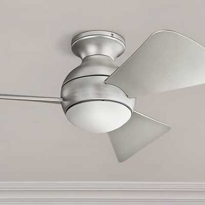 "34"" Sola Brusehd Nickel Wet LED Hugger Ceiling Fan - Lamps Plus"