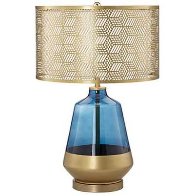 Taurus Cobalt Blue and Gold Tapered Jug Table Lamp - Lamps Plus