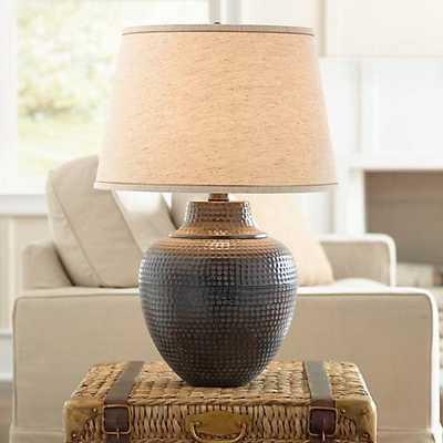 Brighton Hammered Pot Bronze Table Lamp - Lamps Plus