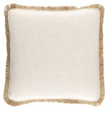 "Guida Pillow - Natural - 22x22"" - Down - Lulu and Georgia"