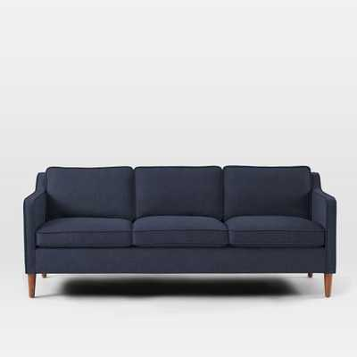 "CUSTOM; Hamilton Sofa 81""; Pebble Weave, Aegean Blue - West Elm"