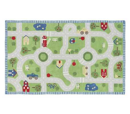Play in the Park Road Rug 5' x 8' - Pottery Barn Kids