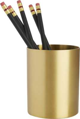 Solid Brass Studio Pencil Cup - CB2