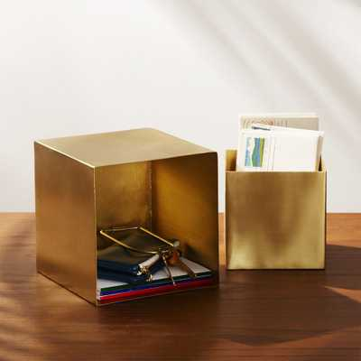 2-Piece Small Solid Brass Studio Storage Box Set - CB2
