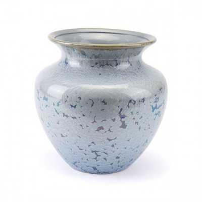 Crystal Blue Short Vase Blue - Zuri Studios