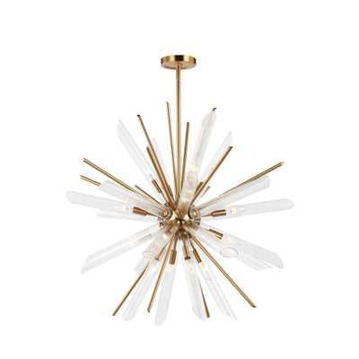 Feiss Quorra 16-Light Burnished Brass Chandelier - Home Depot