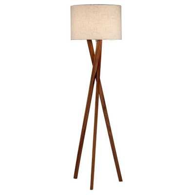 Adesso Brooklyn 63 in. Walnut Floor Lamp - Home Depot