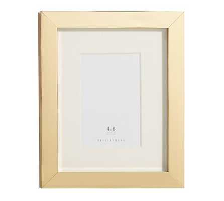 Lee Gallery Frame, Brass - Pottery Barn