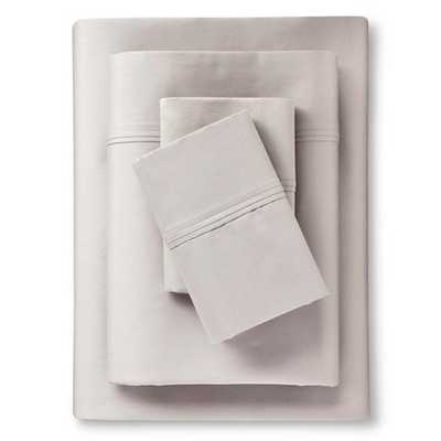 Performance Sheet Set Solids 400 Thread Count - Threshold; King; Gray - Target