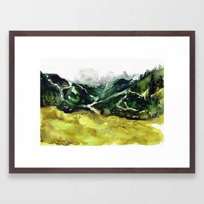 "The flow of nature by Ida Stoycheva; Conservation Walnut Frame; 20""x26"" - Society6"