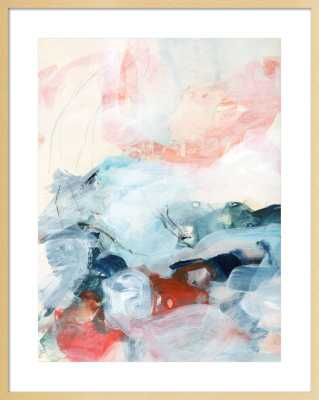 """Abstract painting III - 31x39"""" - Natural Smooth Veneer Frame with Matte - Artfully Walls"""